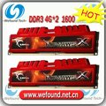 Hot sell! Brand new for G.SKILL DDR3 1600 4G*2 ram for desktop computer overclocking F3-12800CL9D-8GBXL