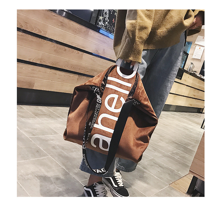 HTB1tE8OXEjrK1RkHFNRq6ySvpXaD - New Large-capacity Velvet Handbag Fashion Lady Letter Shoulder Crossbody Bag High Quality Women's Shopping Bag Tote