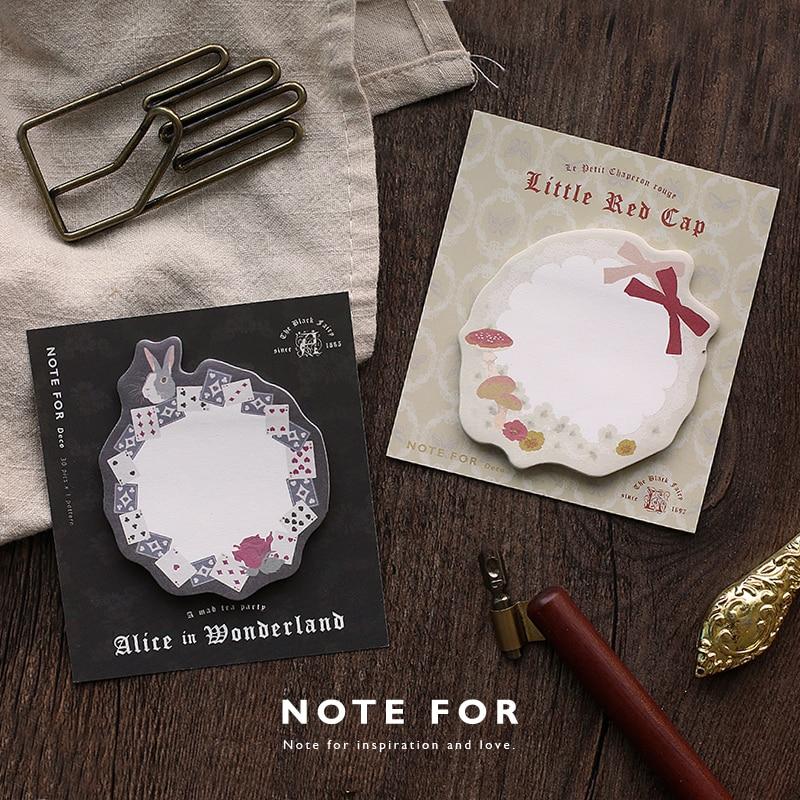 Dark Fairy Alice NOTE FOR Memo Pad Sticky Notes Memo Notebook Stationery Papelaria Escolar School Supplies