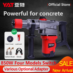850W Electric Rotary Hammer Drill with BMC 4 Function YAT Perforator Puncher Jackhammer for Cement Corded Power Impact Drill