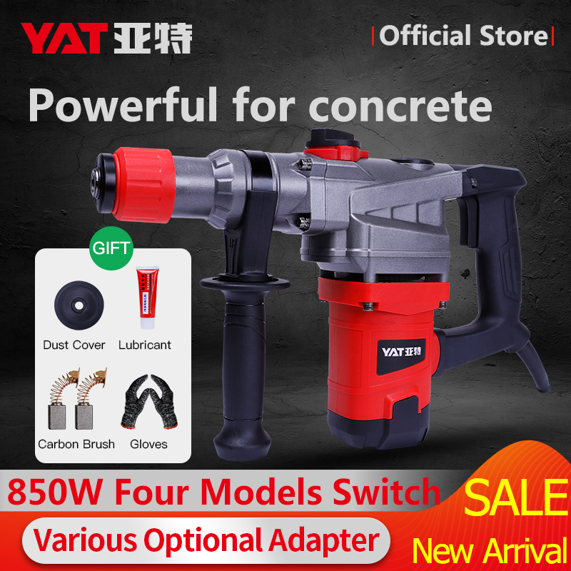 YAT 220V 4 Functions AC Electric Rotary Hammer with BMC Impact Drill Power Drill Electric Drill