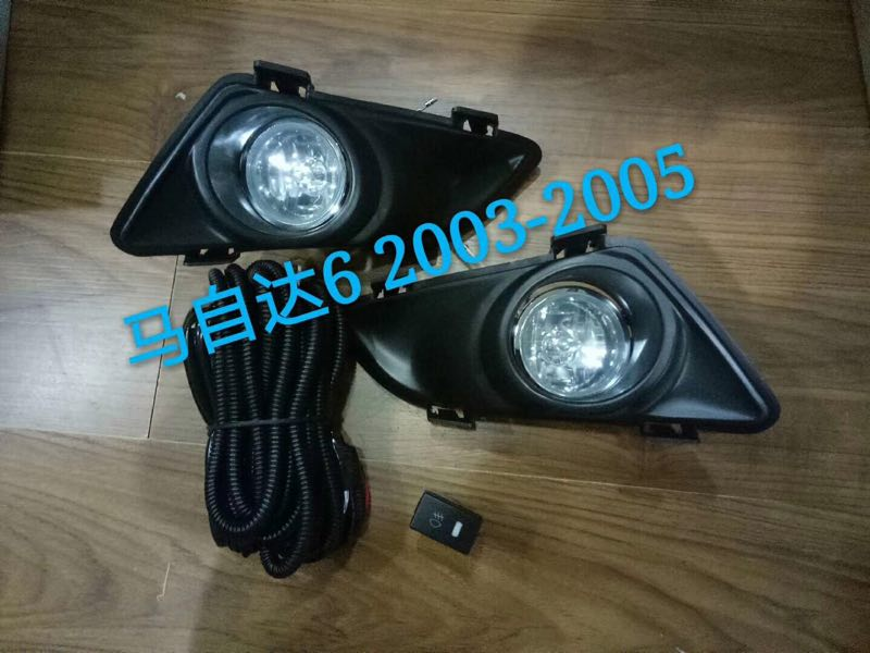 Osmrk halogen fog lamp front bumper light +fog lamp cover for mazda 6 2003-2005