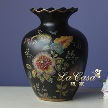 Vases Ceramic Vasse Wholesale Auspicious Pomegranate Flower Vase and Ornaments Home Furnishing European Antique Wedding Gift