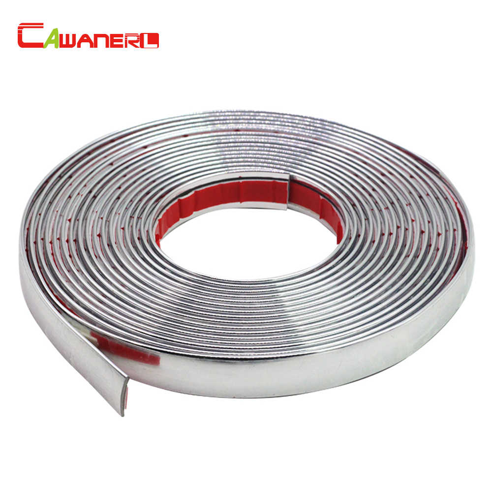 Cawanerl 200CM Car Styling Chrome Decor Strip Decoration Sticker Moulding Trim 6MM 8MM 10MM 12MM 15MM 18MM 20MM 22MM 25MM 30MM