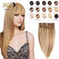 7A Yaki Natural Mink Brazilian Virgin Hair Straight African American Clip In Human Hair Extension Brazilian Remy Human Hair