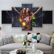 Movie Avengers Infinity Gauntlet HD Print Canvas Printed Living Room Wall Art 5 Pieces Home Picture Poster Painting Decorative