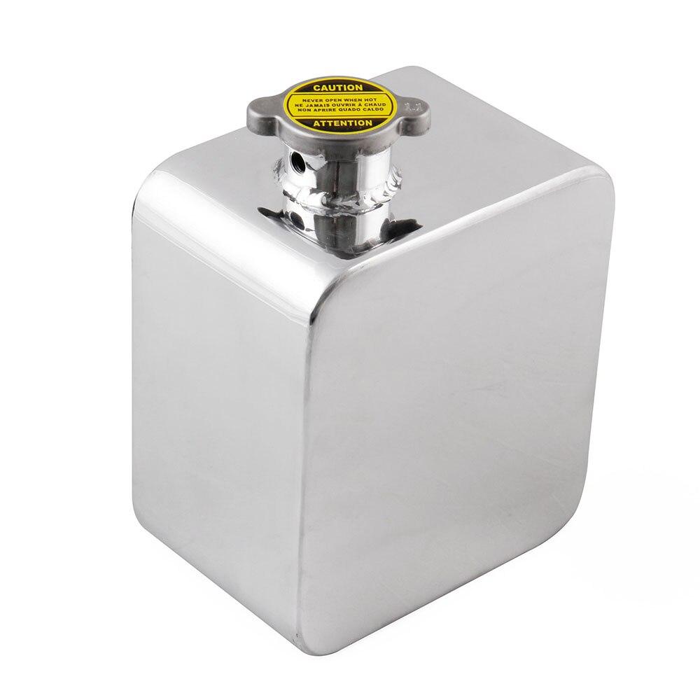 1 pc 2.5L réservoir d'eau avec vis accessoires haute qualité argent aluminium 170x50mm 100mm profondeur voiture Expansion réservoir d'eau Kit - 5