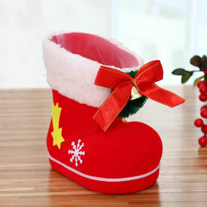 Christmas Shoe.Us 2 01 21 Off Merry Christmas Gift Santa Boot Shoes Hanging Candy Gift Bags Xmas Tree Navidad Chrismas Decoration Noel Enfeites De Natal Da In