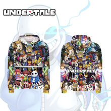 OHCOMICS Anime Game Unisex Undertale Hoodie Casual Coats Long Sleeve Sport Colorful