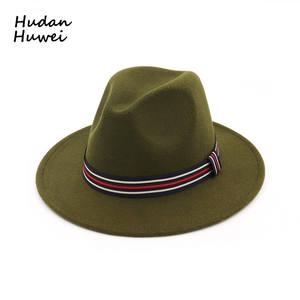218a4edebfe HUDANHUWEI Fedoras Hat for Women Men Lady Jazz Cap Hat