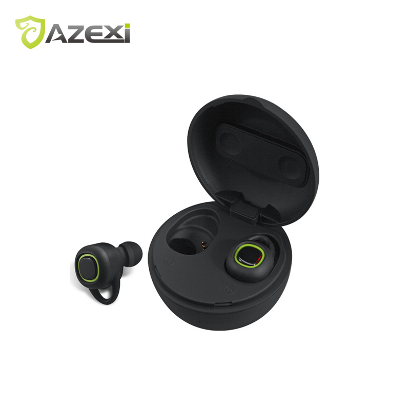 TWS Sport Headphones Stereo Sound Wireless Bluetooth Earphones Built-in Microphone with Chargeable Mini Box for iPhone цена