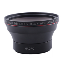 Objectif grand Angle 58MM 0,43x + objectif Macro pour canon 750DD/350D / 400D / 450D / 500D /1000D/ 550D / 600D /1100D 1300D, objectif 18 55MM