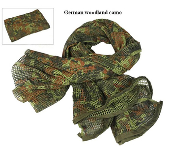190*90cm Cotton Military Camouflage Tactical Mesh Scarf Sniper Face Veil Camping Hunting Multi Purpose Hiking Scarve 3