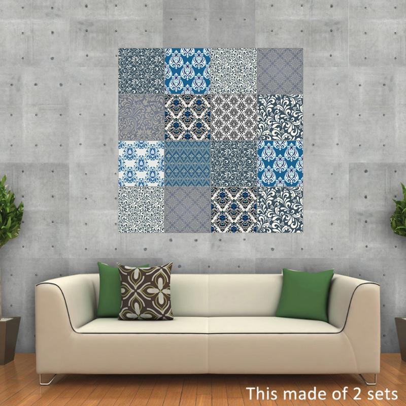 unids pvc etiqueta de la pared bao cocina adhesivo de azulejo de mosaico papel pintado