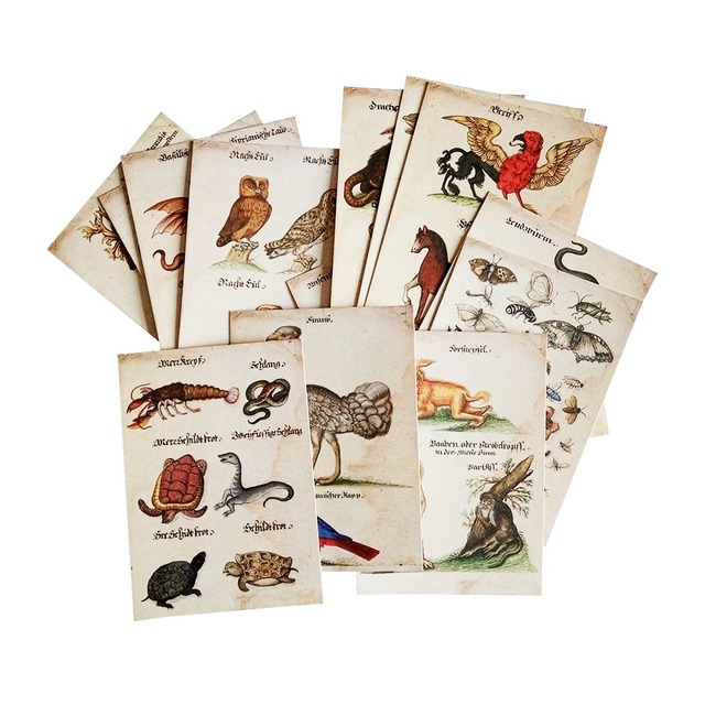 Business post card image collections business card template 16 pcslot new vintage animal business cards postcard owl snake 16 pcslot new vintage animal business colourmoves