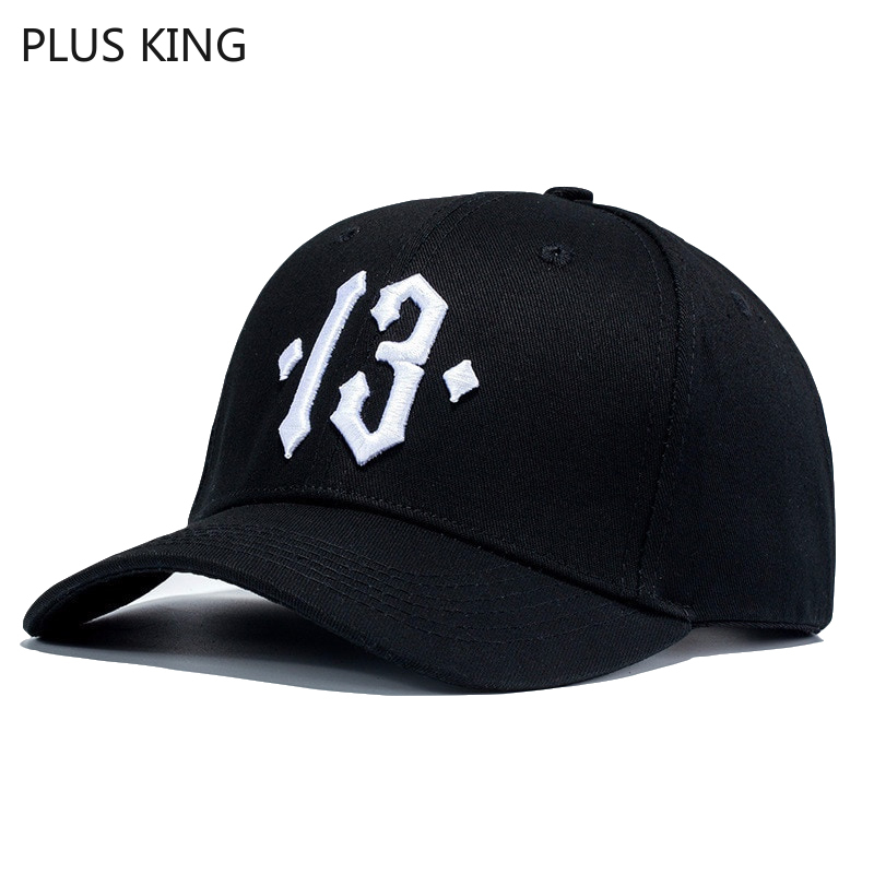 High Quality Number 13   Baseball     Cap   Men Women Dad Hat Casual Sports Hats Black