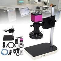 High Quality 16MP 60 LED 10X 130X Digital Camera Microscope Lift Stand Video Zoom Lens Intense Focused Shadow free Illumination
