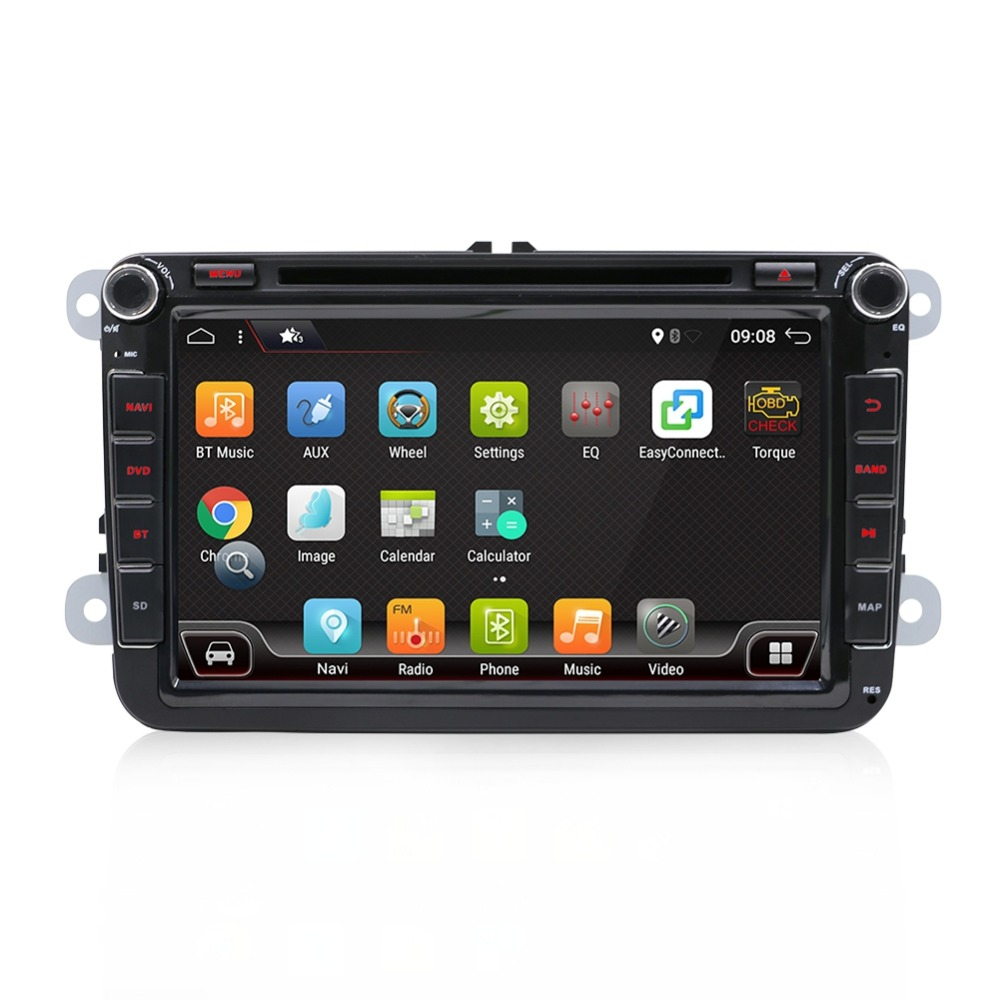 2 DIN 4 Core Android  Car DVD GPS SWC WIFI USB SD For Volkswagen GOLF 5 6 POLO TOURAN EOS PASSAT CC TIGUAN SHARAN SCIROCCO Caddy-in Car Multimedia Player from Automobiles & Motorcycles    2