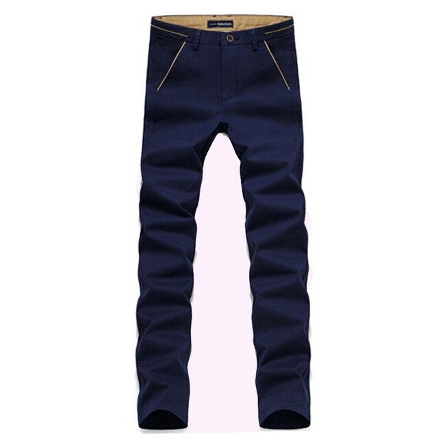High quality men's casual pants Spring  autumn new stretch cotton casual trousers men joggers men pants Size 28/38