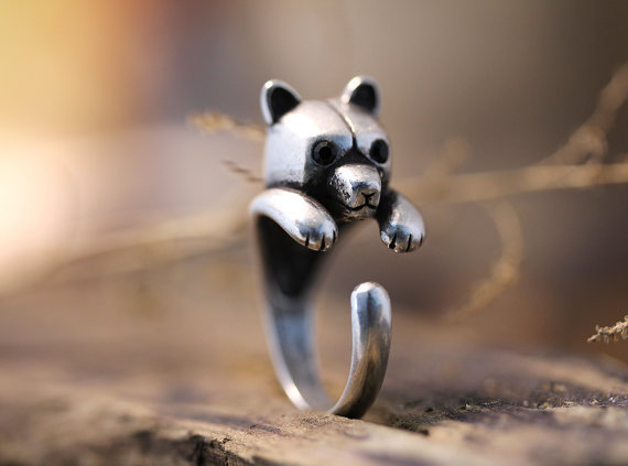 Newest Factory Direct Sale Retro Little Bear Ring Adjustable Antique Silver/Bronze Animal Ring Jewelry Free Size-12pcs/lot