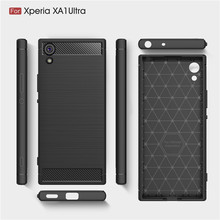 For Sony XA1 Ultra G3212 G3221 Case Carbon Fiber Soft Silicone TPU Skin Back Cover Phone Case for Sony Xperia XA1 Ultra G3223 смартфон sony xperia xa1 ultra dual g3212 white mediatek helio p20 4gb 32gb 6 1920x1080 3g 4g lte 23mp 16mp cam bt android 7 0 1308 0894