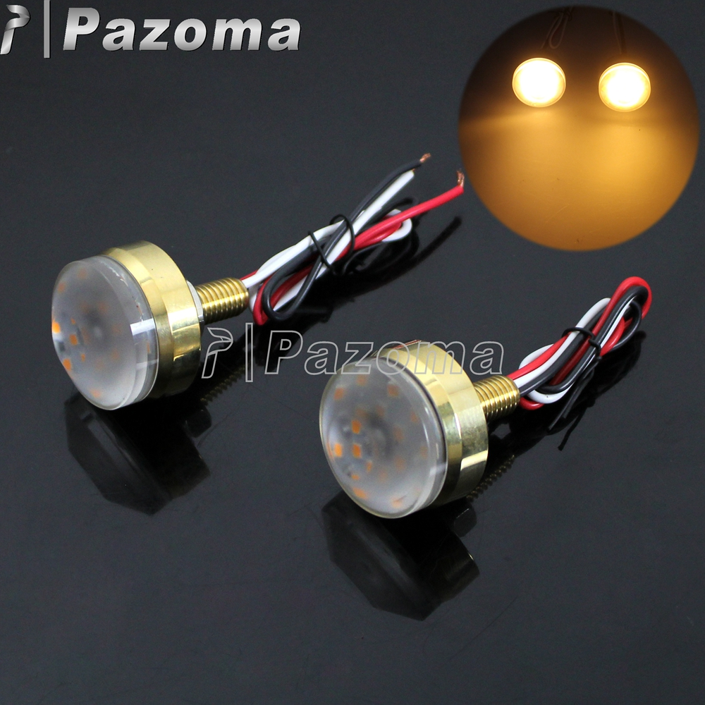 100% True 1pair 12v Led Motorcycle Turn Signal Decoration Lights Light Lamp For 39mm-41mm Fork For Harley For Honda For Suzuki Home