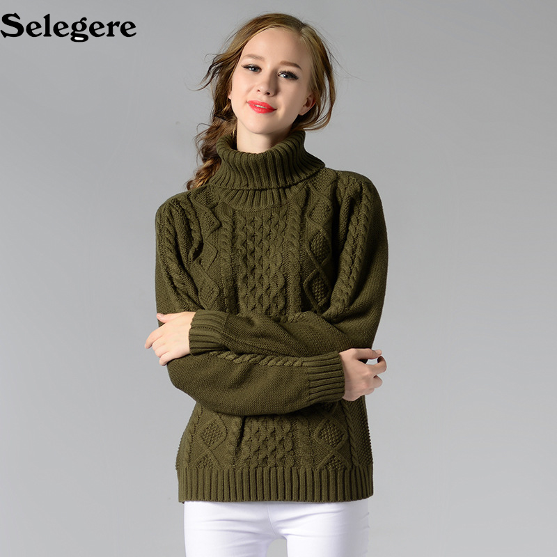 30pcs/lot Women Turtleneck Sweaters Autumn Winter 2018 European Casual Twist Warm Sweaters Female 6 colors sweater