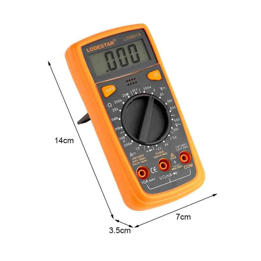 Sondy LD3801A multimetr cyfrowy napięcia prądu odporność pojemności Tester amperomierz Auto zakres