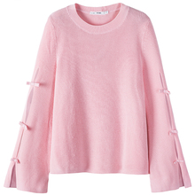 SEMIR Women Textured Knit Sweater in Acrylic Fabric with Fla