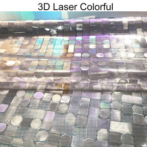 Image 2 - 3D Laser Colorful Foil Window Decorative Film Static Privacy Film Glass Sticker Crystal Frosted Opaque Sliding door Home Decor