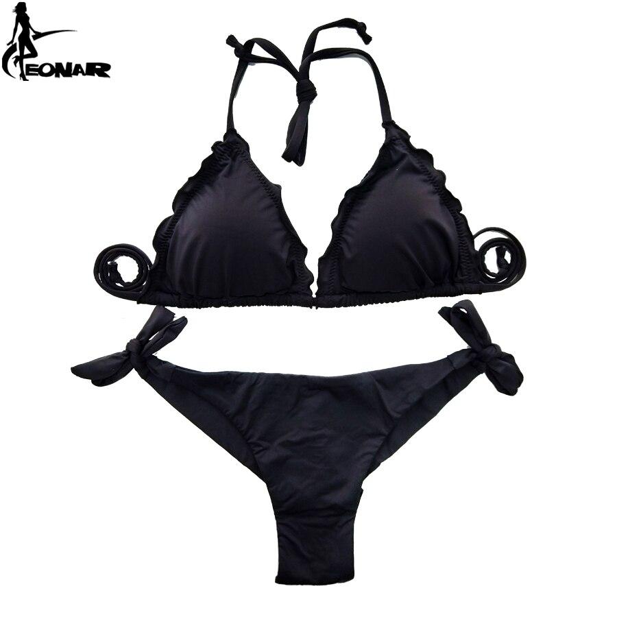 69f4a2e5c8 EONAR Women Swimsuit 2018 Ruffle Push Up Top Bikini Brazilian Cut Bottom  Bikini Set Maillot De Bain Femme Swimwear Bathing Suit -in Bikinis Set from  Sports ...