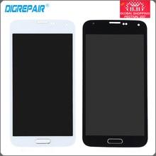 """5.0 """"Samsung Galaxy S5 G900F G900M G900A G900T için LCD Ekran Paneli Dokunmatik ekran Digitizer ile Ev Düğmesi Tam Montaj Parçaları"""