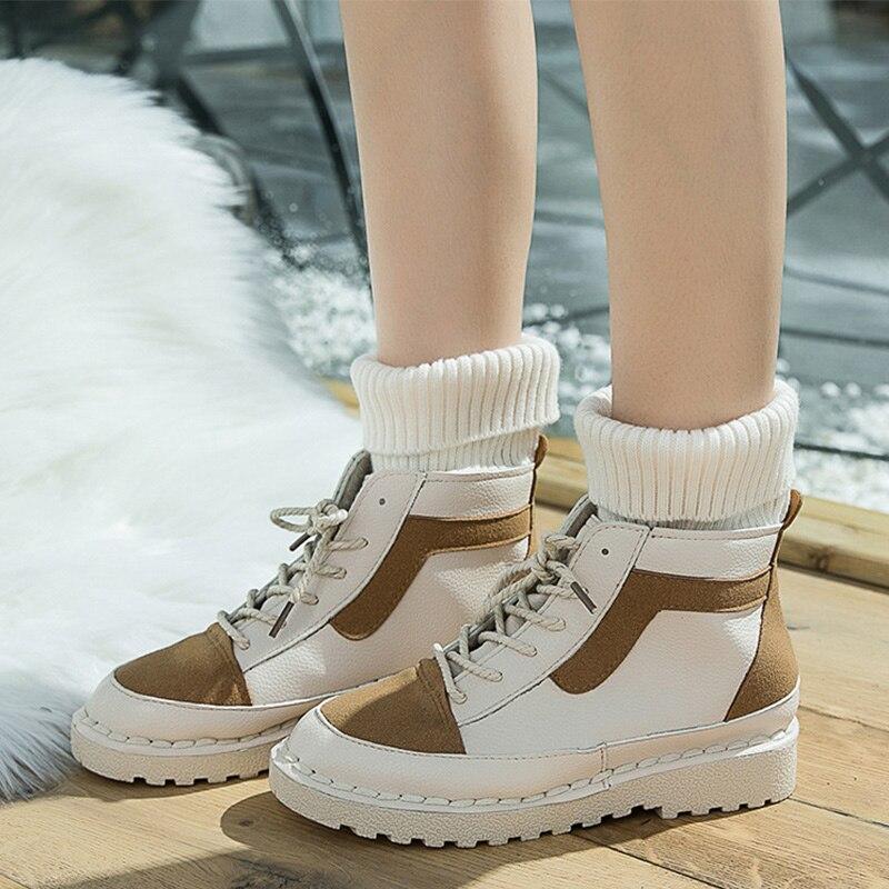 Vulcanisé Casual Daim Femelle Chaussures Khaki Confortable Bottes forme 2018 De Hiver coffee Plate Chaussette Vintage Femmes Dames Mode Automne En Plat Cheville ZnOPk8wXN0
