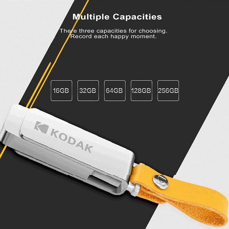 Image 4 - Kodak K133 pen drive USB 3.1 Metal USB Flash Drive 16GB 32GB Memory stick USB 3.0 64GB 128GB U Disk 256GB pendrive USB Stick-in USB Flash Drives from Computer & Office