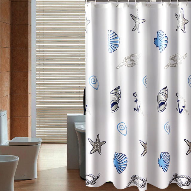 Thick waterproof mildew shower curtain Polyester Shower curtain ...
