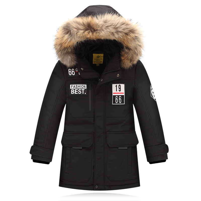 2017 Winter Children's Down Jackets/coats warm Parkas fur Big boy Coat thick duck Down feather jacket Outerwears winter-40degree casual 2016 winter jacket for boys warm jackets coats outerwears thick hooded down cotton jackets for children boy winter parkas