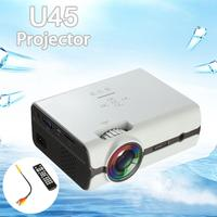 White U45 7500 Lumens 1080P HD LED Mini Projector Home Multimedia Theater Stereo Speakers USB SD VGA Home Theatre System