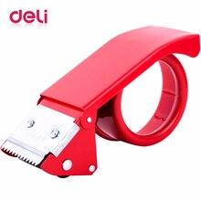 Deli carton sealer metal width size 48 mm Adhesive Tape Dispenser simple transparent  Office Desktop supplies Scotch Tape Cutter