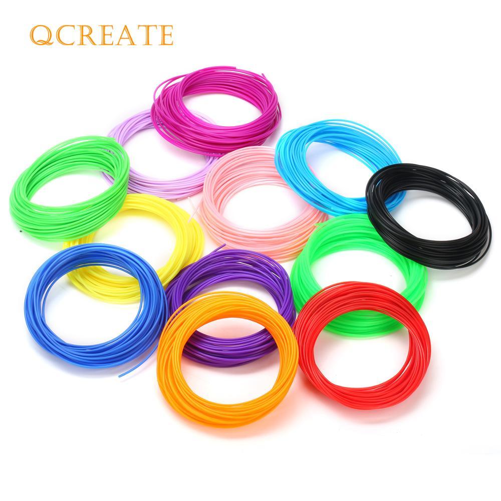QCREATE 1,75mm PLA ABS PCL Kunststoff Filament für 3D Stift 3D Drucker 20 Farben 5 Meter Vakuum Verpackt 3D druck Verbrauchs
