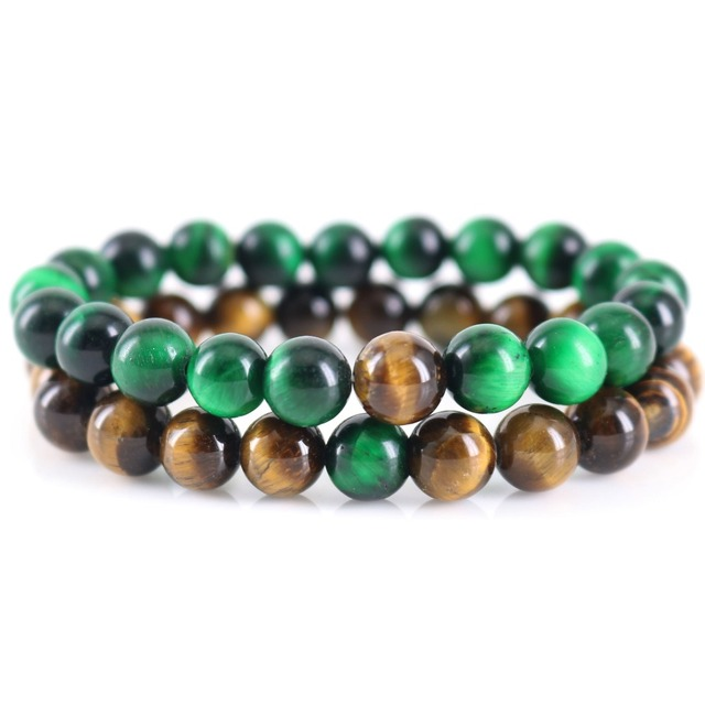 Bracelet Natural Green Tiger S Eye Long Distance Relationship Bracelets Husband And Wife Gift For