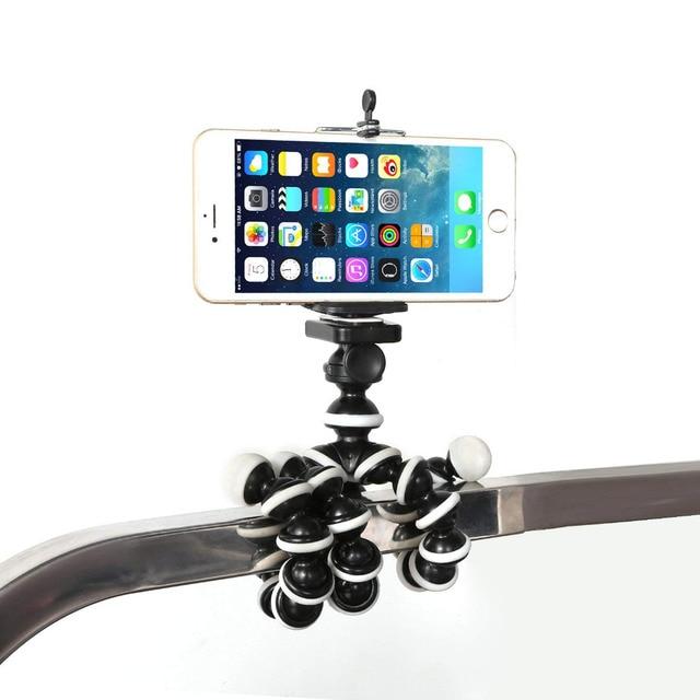 Rovtop Portable Mini Octopus Tripod Bracket Flexible Phone Holder Foldable Camera Smartphone Moblie Tripod for Gopro Camera Z2