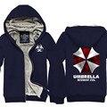 Biohazard Корпорации Umbrella Resident Evil Пальто мужская Толстовка С Капюшоном Куртки Косплей Костюм