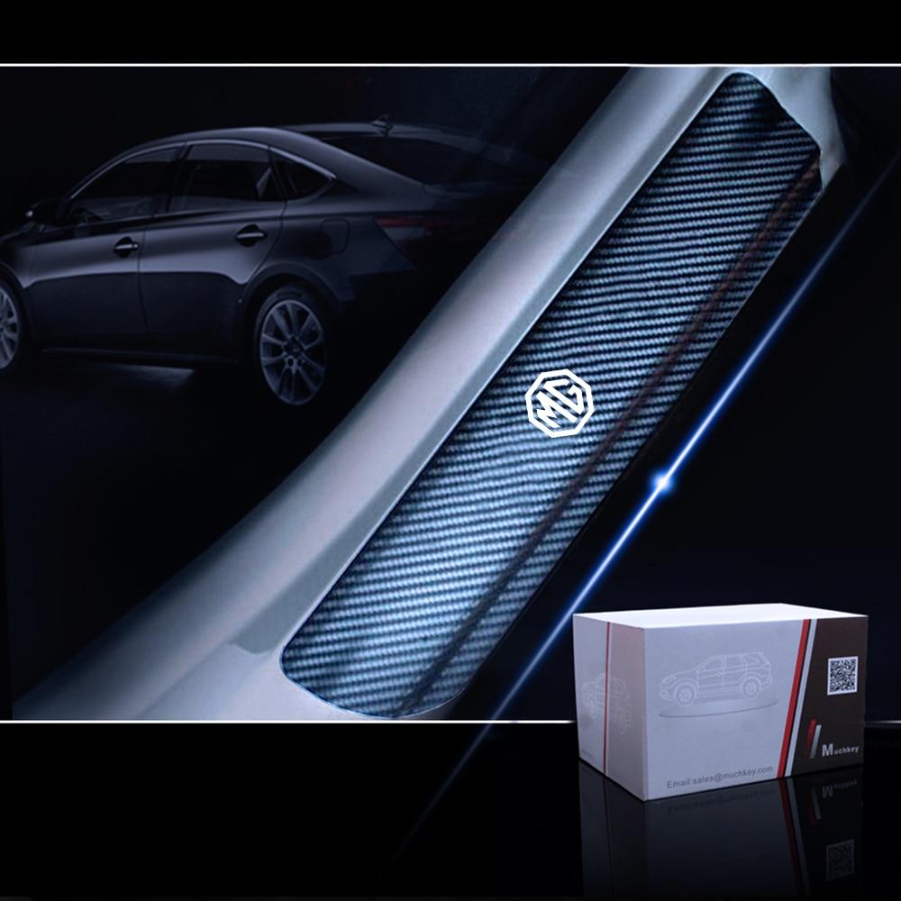 4Pcs Black Carbon Fiber Side Door Handle Cover Sticker For Tesla Model 3 DH ^