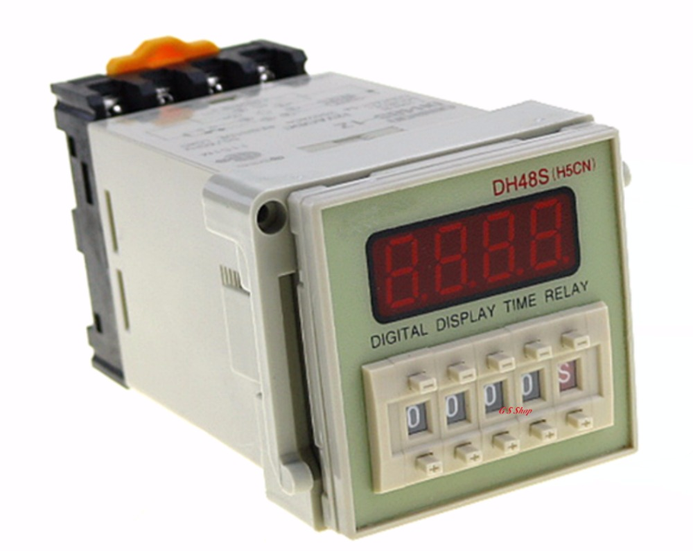 12V 24V 110V 220V Multifunction Digital Timer Relay On Delay 8 Pins SPDT DH48S-S Repeat Cycle 0.1S-99H dh48s 2z dh48s 0 01s 99h99m ac dc 12v 24v digital programmable time relay switch timer on delay 8 pins spdt 2 groups contacts