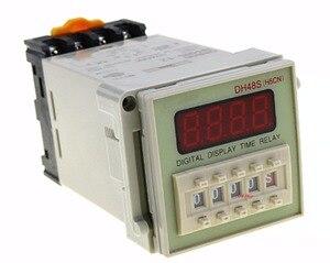 12V 24V 110V 220V multifunción Relé digital temporizador retardo de 8 pines SPDT DH48S-S repetir el ciclo de 0,1-99 H