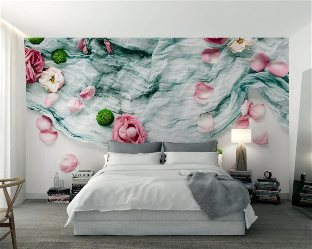 Beibehang Custom Photo wall mural Wallpaper Rose Pastoral Style 3D Wallpaper Living Room Sofa Background wall paper home decor custom 3d photo wallpaper natural mural waterfalls pastoral style 3d non woven straw paper wall papers living room sofa backdrop