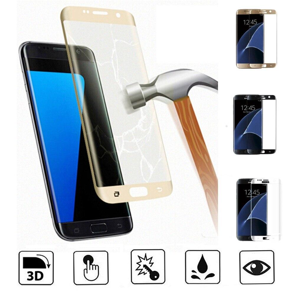 3d полное покрытие закаленное Стекло Экран протектор для Samsung Galaxy S6 S6Edge S7 Edge S8 s8edge плюс A5 <font><b>A7</b></font> A3 2017 чехол для телефона