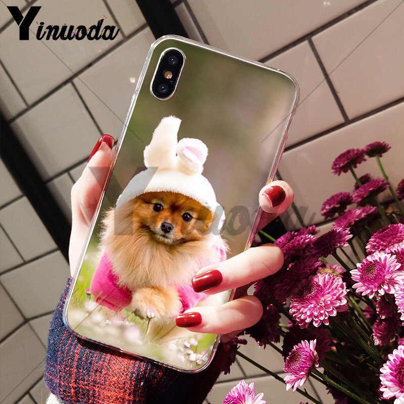 Yinuoda Pommerschen hunde hund Weiche TPU silikon Hohe Qualität Telefon Fall für iPhone 8 7 6 6S Plus X XS max 10 5 5S SE XR Shell