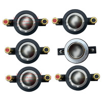 STARAUDIO 6Pcs 25MM Titanium Compression DJ Speaker Driver Tweeter Replacement Diaphragms For Karaoke KTV Stage Speaker SDP 25