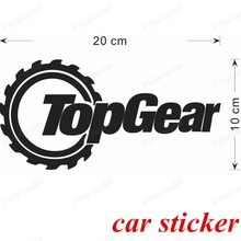 best selling Black color Car Styling Accessories Sticker Decal Text cool creative 20*10cm TOPGEAR Funny Car Sticker